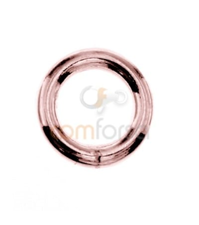 Soldered Rose Gold-plated silver jump ring 7 mm ext (1.3)
