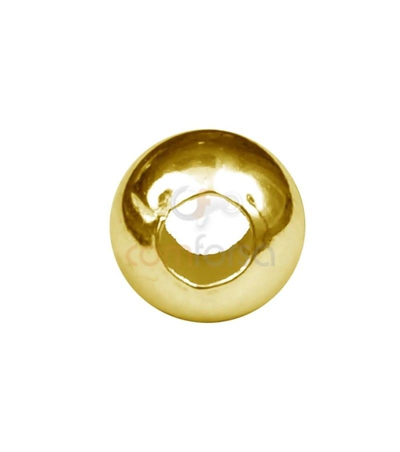 Bola lisa 5 mm (2.2) plata chapada oro