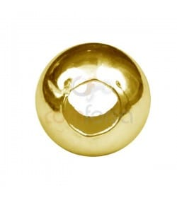 Gold-plated silver flat Ball 5 mm (2.2)