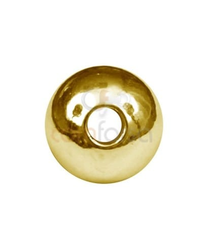 Round plain beads 6 mm (1,8) sterling silver gold plated