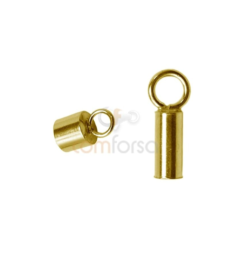 Gold-plated Lined tube with ring 2.1(Ø) x 6 mm