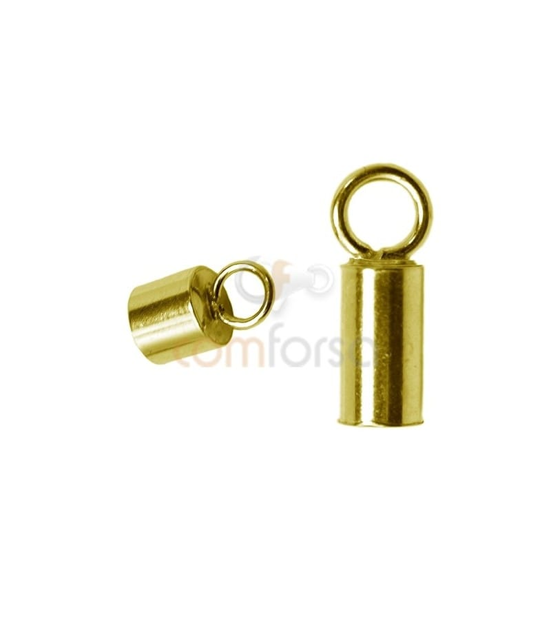 Gold-plated Lined tube with ring 3.1(Ø) x 6 mm