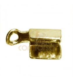 Grapa con anilla 5 x 8mm plata 925 chapada en oro
