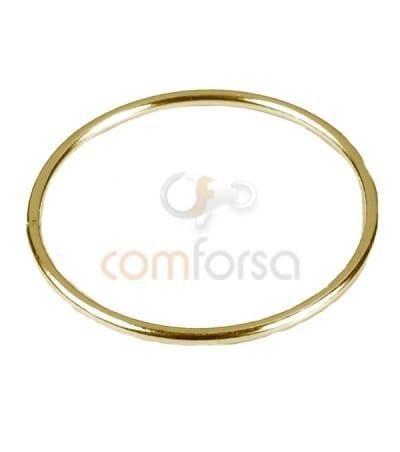 Anilla entrepieza circular 20 mm plata chapada oro