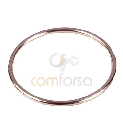Rose Gold-plated silver Round spacer ring 20 mm