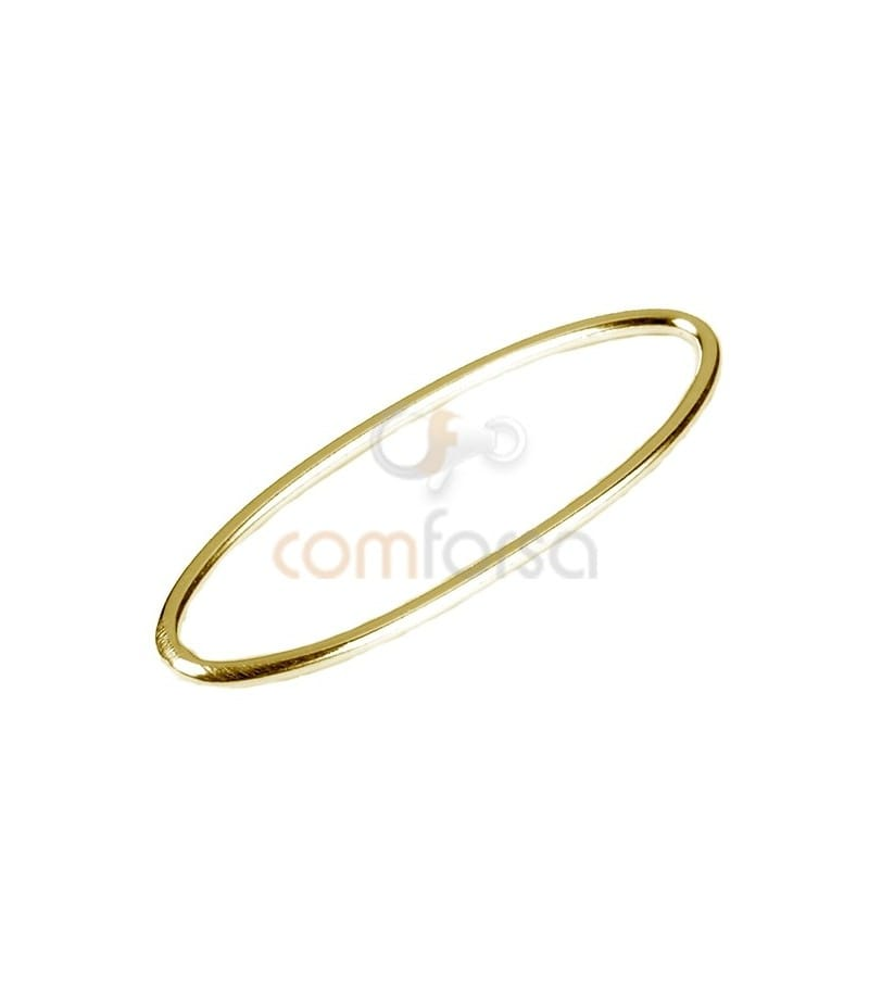 Gold Plated Sterling Silver 925 oval spacer 25x10 mm