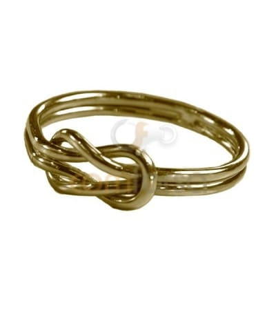 Gold Plated Sterling Silver 925 Thick Knot ring