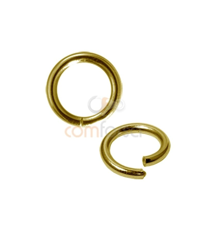Gold Plated Sterling Silver 925 Magic ring 2x10mm
