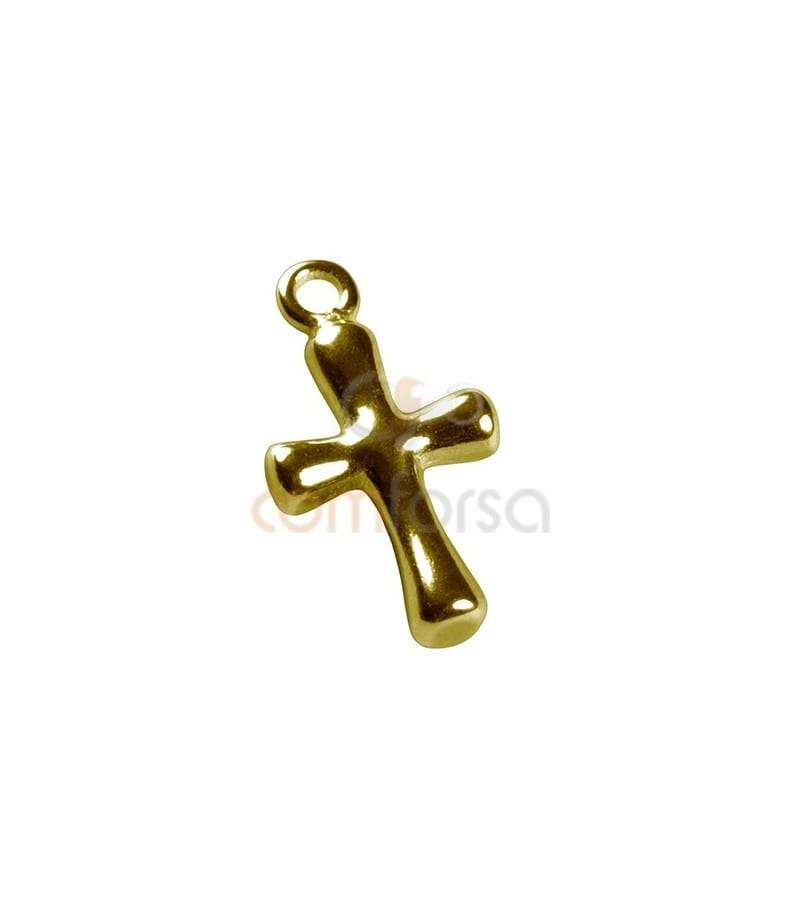 Sterling Silver 925 gold-plated Cross Pendant 17 x 9 mm