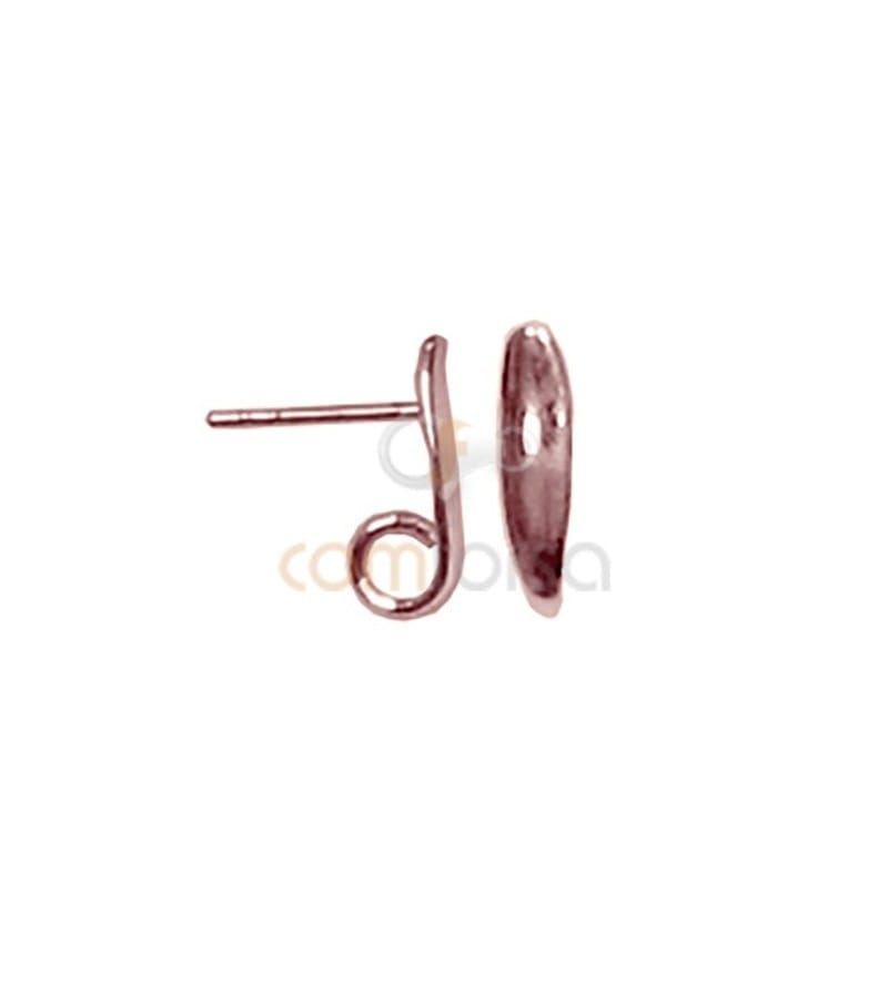 Sterling silver 924 rose-gold plated earring with jumpring 14 x 4 mm