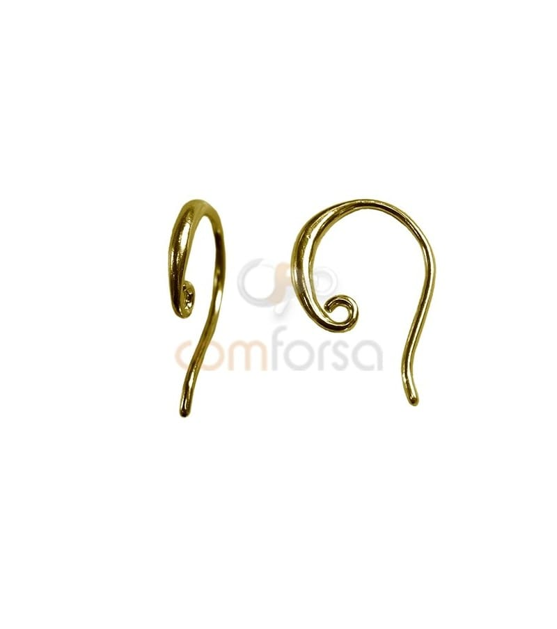 Sterling Silver 925 Gold Plated Earring hook 10.8 x 15 mm
