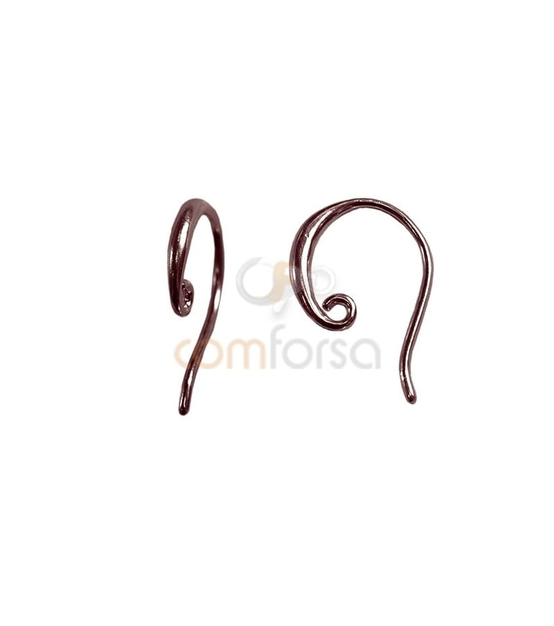 Sterling silver 925 rose gold-plated Earring hook 10.8 x 15 mm