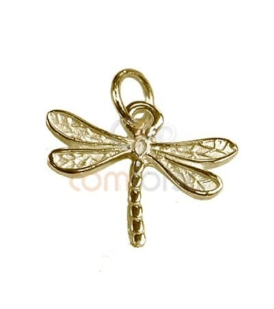 Gold Plated Sterling Silver 925 Dragonfly Pendant 19 x16,5 mm