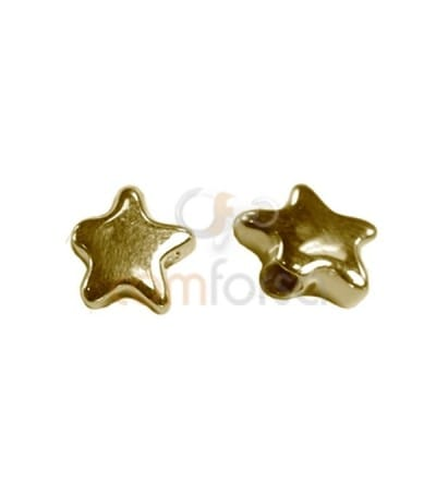 Sterling silver 925 gold-plated Star thick bead 8,8x8,5 mm