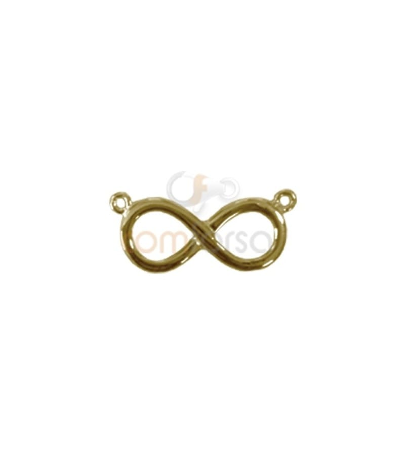 Gold Plated Sterling Silver 925 Infinity pendant with 2 rings