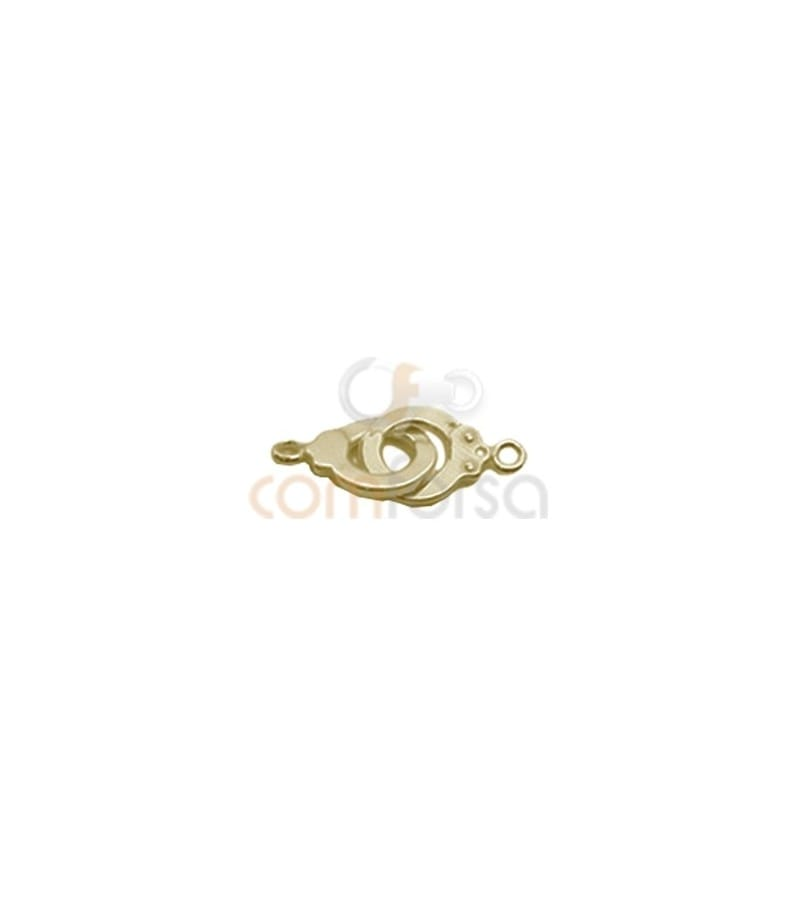 Gold Plated Sterling Silver 925 Handcuffs Spacer  22 x 9.5 mm