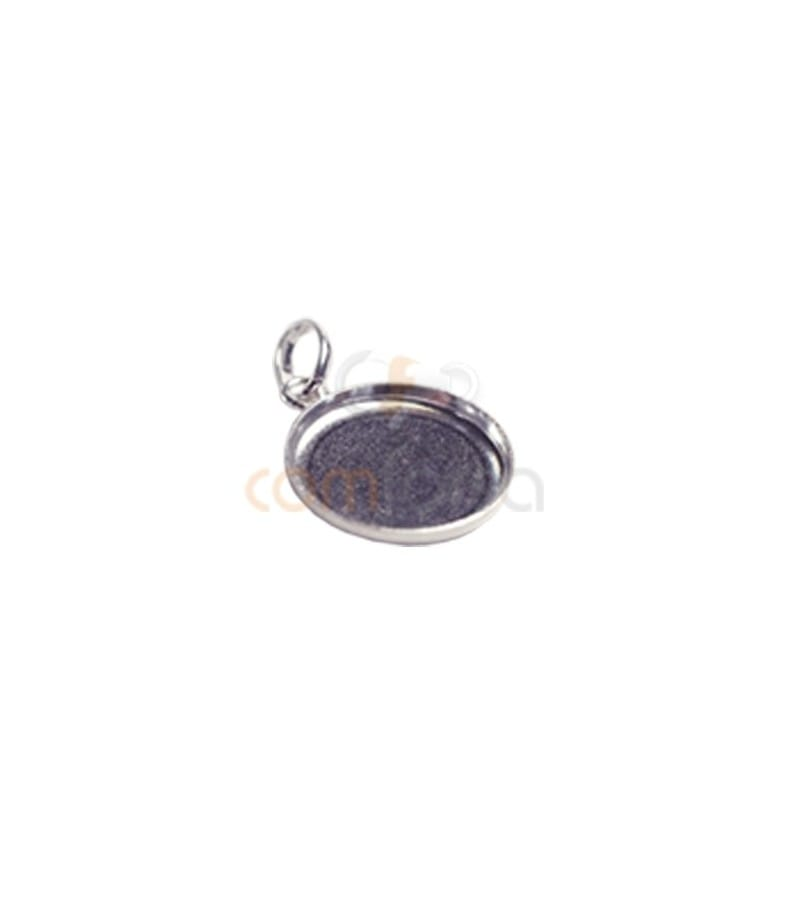 Sterling Silver 925 Blank Pendant 12 mm