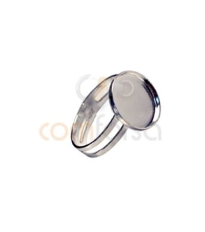 Sterling Silver 925 Ring with blank 12 mm