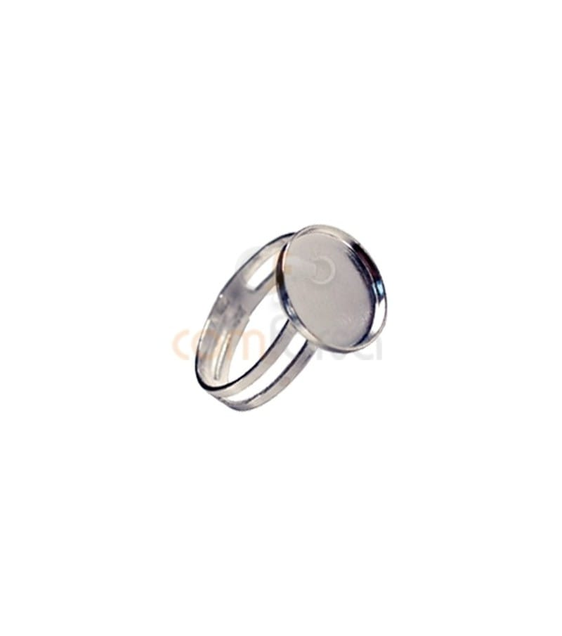 Sterling Silver 925 Ring with blank 15 mm