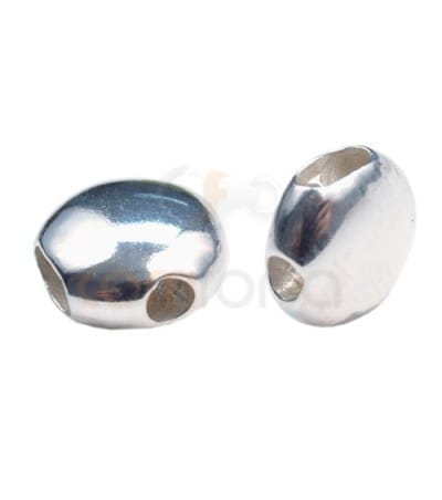 Sterling silver 925 Spacer 10 mm (3 holes)