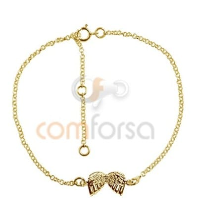 Gold plated Sterling Silver 925 Bracelet 14 cm with extender