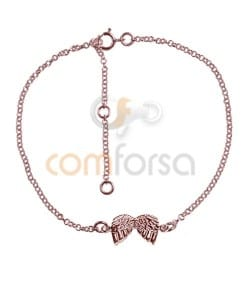 Rose Gold Plated Sterling Silver 925 Bracelet 14 cm with extender 4 cm