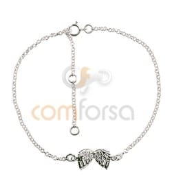Bracelet 14 cm with extension 4 cm sterling silver 925