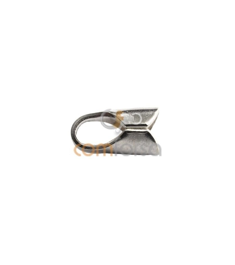 Sterling silver 925 Round open end cap 2.5 mm