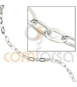 Flat chain small oval silver 925