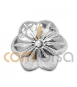 Sterling silver 925ml Cap with 6 petals 7 mm