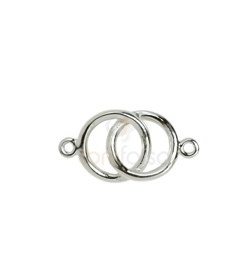 Sterling silver 925 Alliance connector bead 21 x 11mm