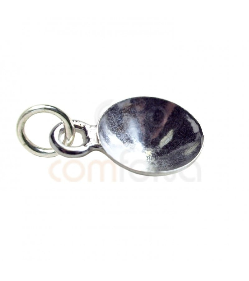 Sterling Silver 925 Pendant for 12 mm rivoli with jump ring