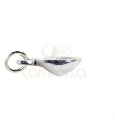 Colgante con anilla 12 mm plata 925 ml