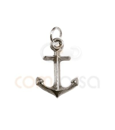 Sterling Silver 925 Anchor Pendant 10x14mm