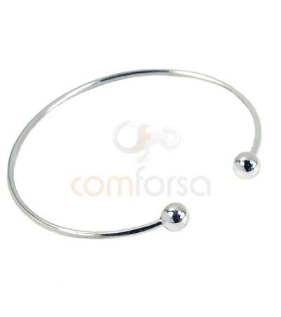 Sterling silver 925 Removable ball bracelet 6mm