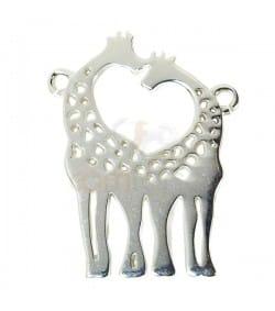 Sterling silver 925 Giraffe connector  bead 15 x 20mm