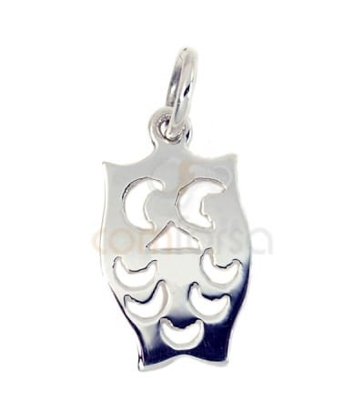 Sterling silver 925 owl charm 8.5x15 mm