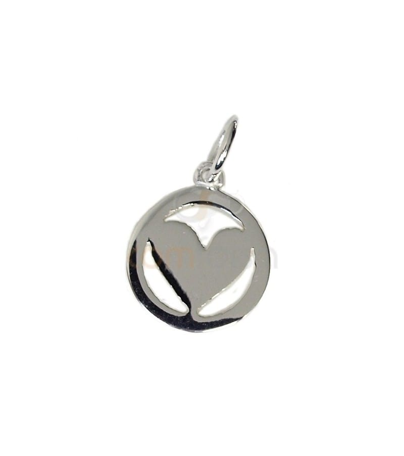 Sterling silver 925 heart charm 10 mm