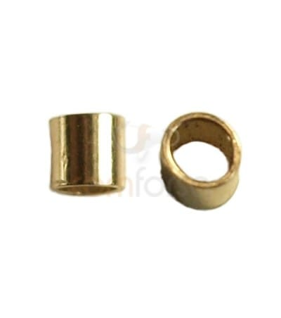 Chafa 2x2 mm (1.5 mm interior) gold filled