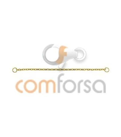 18kt Yellow gold safety heavy chain