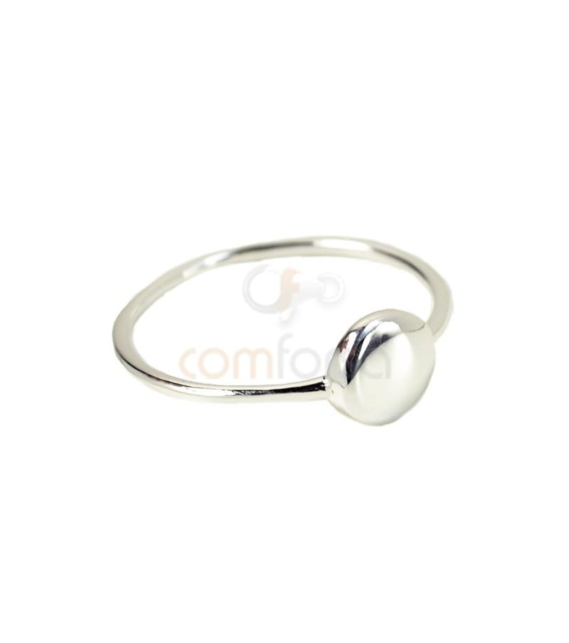 Sterling silver 925 disk ring 6.5 mm