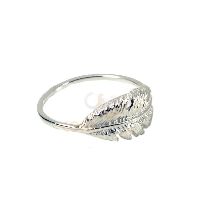 Sterling silver 925 feather ring