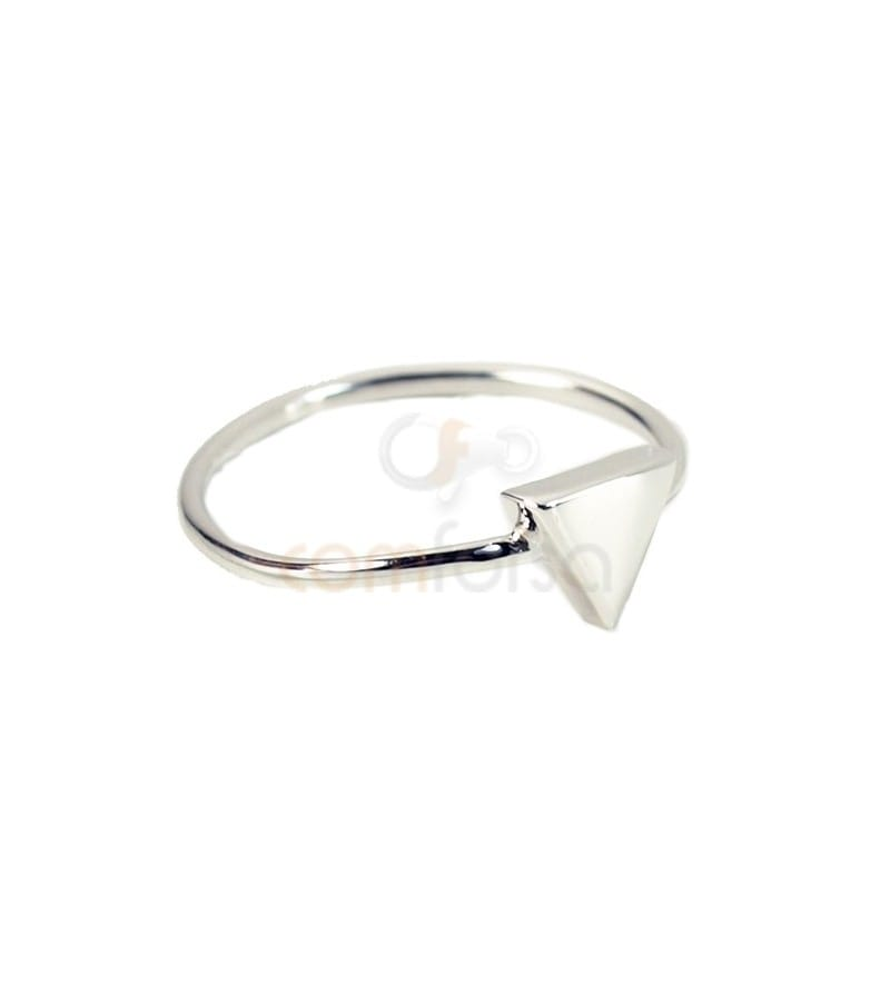 Sterling silver 925 triangle ring