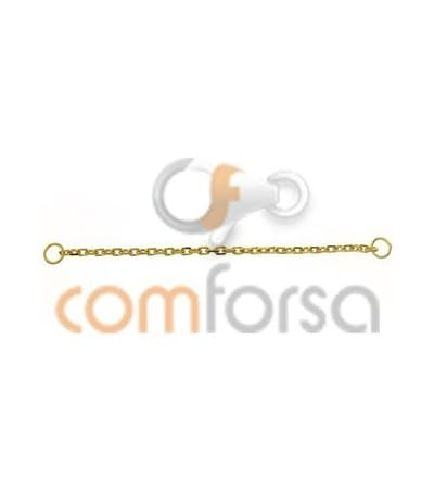 18kt Yellow gold safety extra weight chain