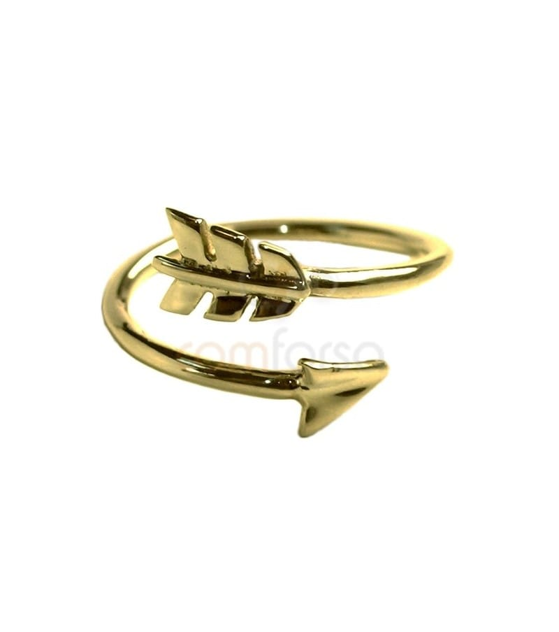 Gold plated sterling silver 925 arrow ring