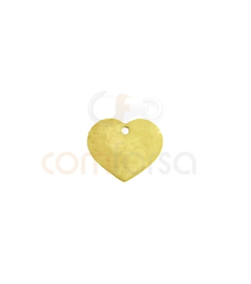 Gold plated sterling silver 925 engraving heart charm 7x6 mm