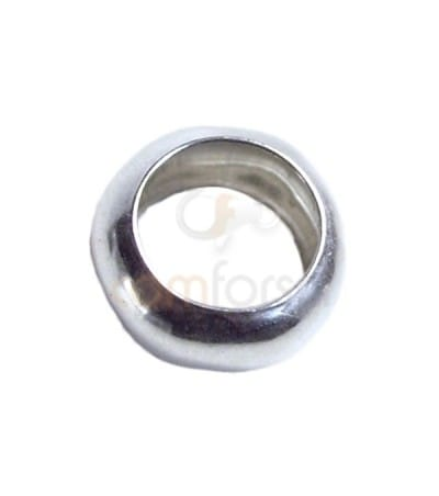 Sterling silver 925 puffed ring 6 mm