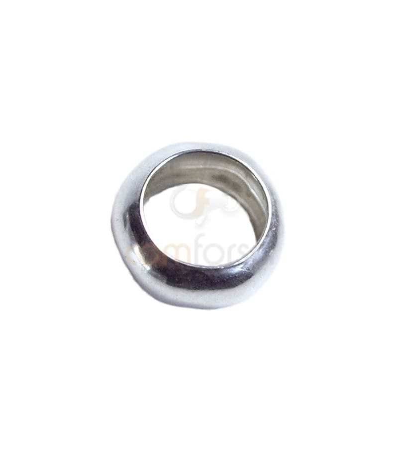 Sterling silver 925 puffed ring 8 mm
