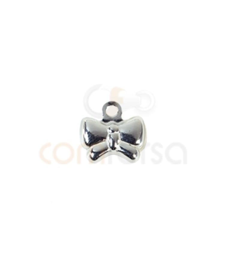 Sterling silver 925 bow charm 8x8.5 mm