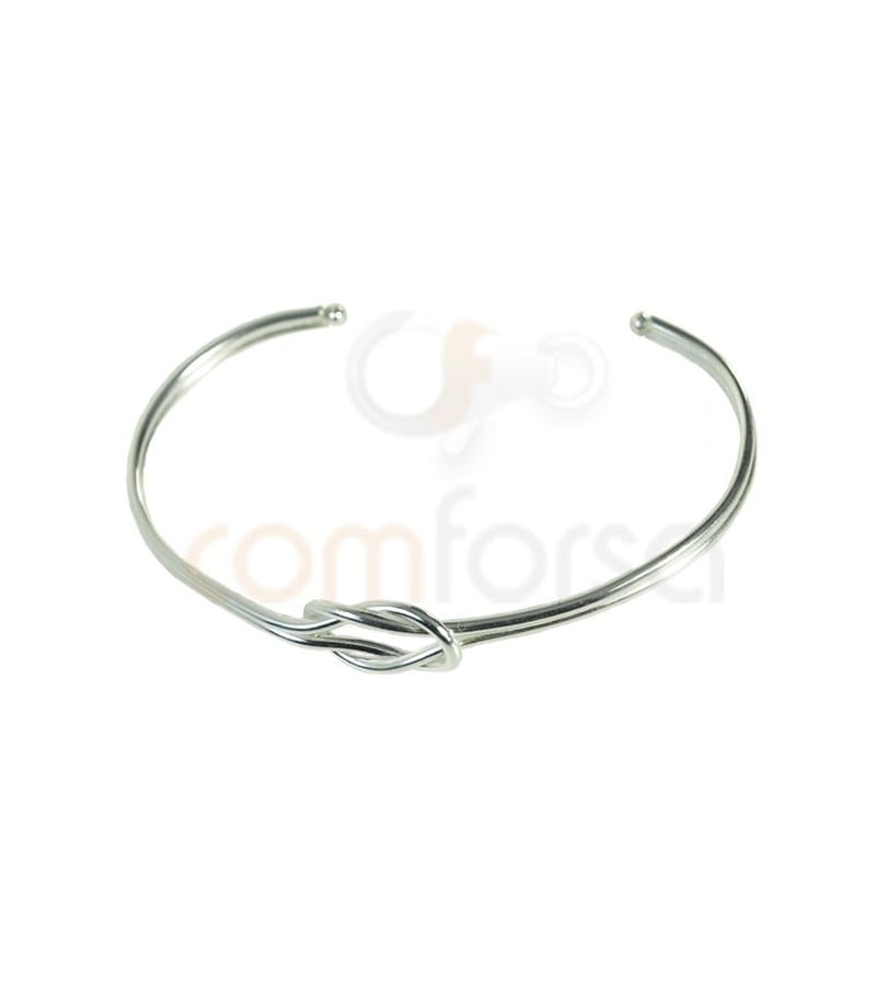 Sterling silver 925 Bow strand bangle